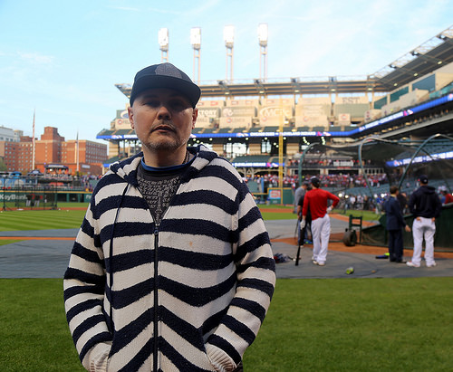 Musician and Cubs fan Billy Corgan has his game face on for Game 7.